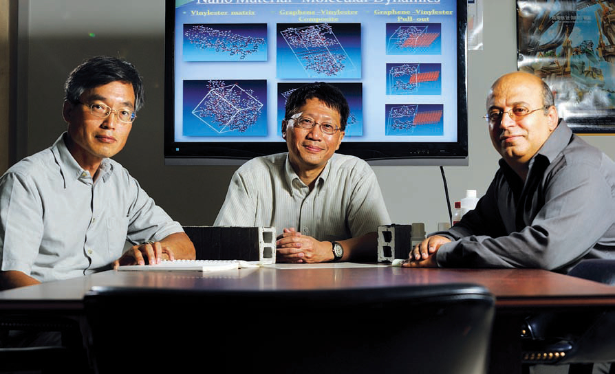 Drs. Chung Song (left), Alex Cheng and Ahmed Al-Ostaz are members of UM